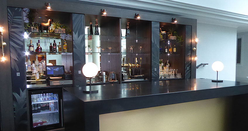 Bespoke hotel bar joinery - Prime Solutions