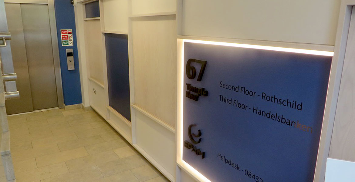 Office communal Area Refurbishment - Signage