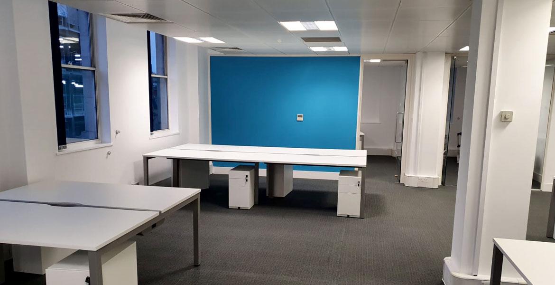 Feature Wall Office Refurbishment Birmingham - Erwin Technologies