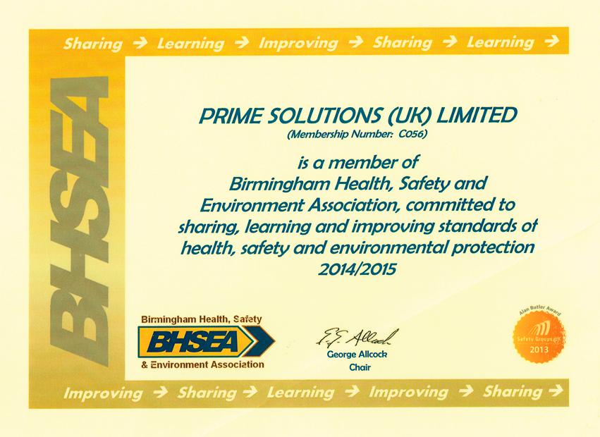 BHSEA Certificate