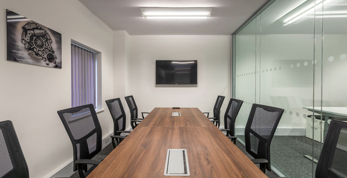 Board room table and chairs in office fit out