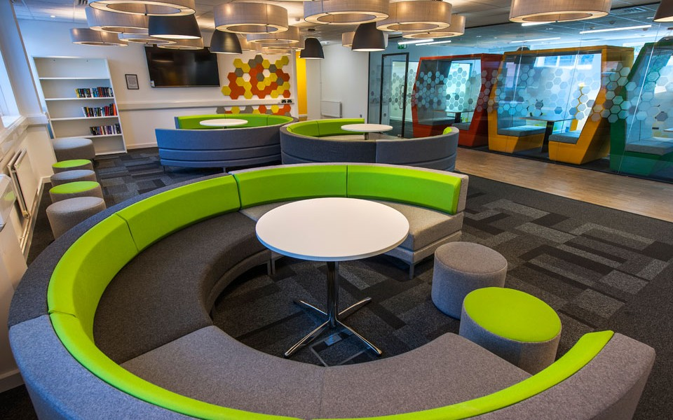 University Fit Out - The Den - Banquette Seating